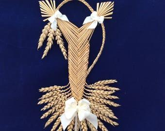 House blessing - Welsh border fan - corn dolly - bridal gift - wedding gift - wedding bouquet - good luck