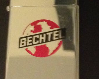 Bechtel Engineering Construction Slim Zippo Lighter USED | Etsy
