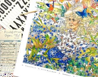 Appalachian Primavera, Dolly Parton Inspired Art Print, Tennessee Wildflower Print, Floral Art Print, Botanical Art Print, Spring Flower Art