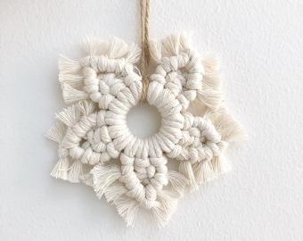 Macrame Snowflake, Macrame Christmas Decoration, Christmas Ornament, Christmas Tree Decoration, Boho Christmas, Xmas Tree Ornament
