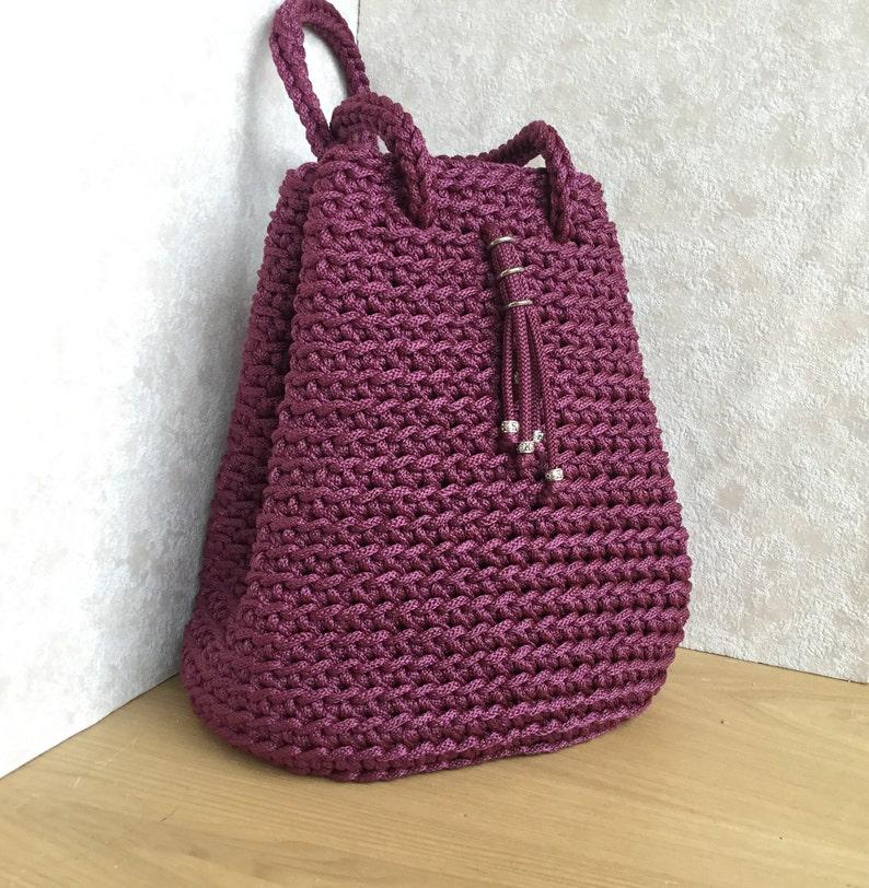 Crochet Bag Crochet Bucket Bag Shoulder Bucket Bag Etsy