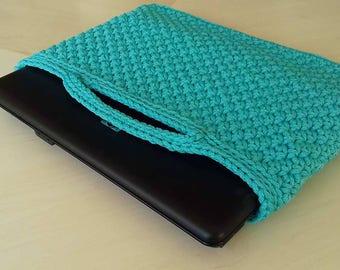 Notebook case - Laptop bag - Laptop cover - Laptop sleeve - Crochet laptop case - Accessory Cases