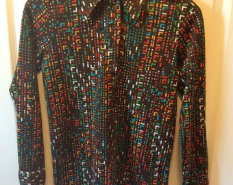 Vintage Women's Shirt Made by Lerner Shops Size Medium