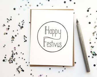 Festivus card etsy happy festivus card holiday card blank card greeting card black and white holiday festivus seinfeld m4hsunfo
