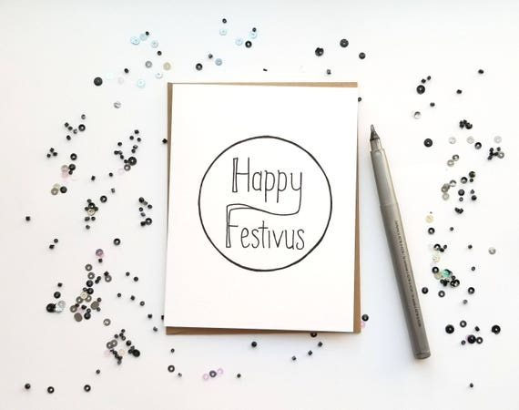 Happy festivus card holiday card blank card greeting card etsy image 0 m4hsunfo