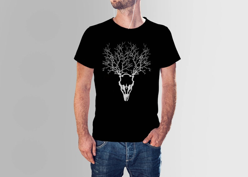 Alternative Clothing  Deer Head  Stag Head  Hippie Clothes image 0