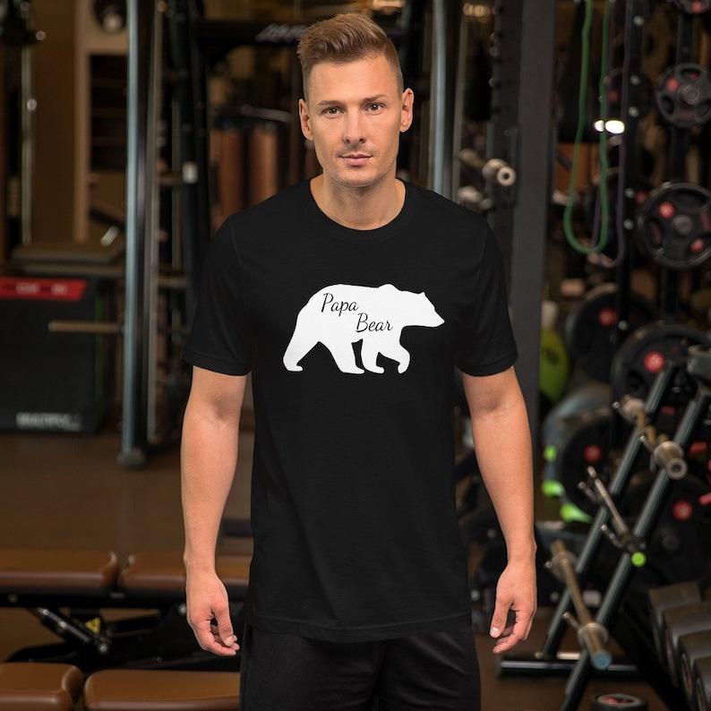 New Dad Shirts  Papa Bear T-Shirt  Papa Bear Tee  Dad Bear image 0