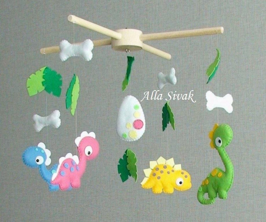 Dinosaurier-Mobile Kinderzimmer Mobile Filz Dinosaurier | Etsy