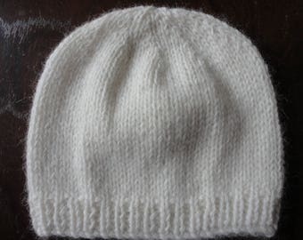 Luxury Hand Knitted 100% Cashmere Baby Beanie Hat