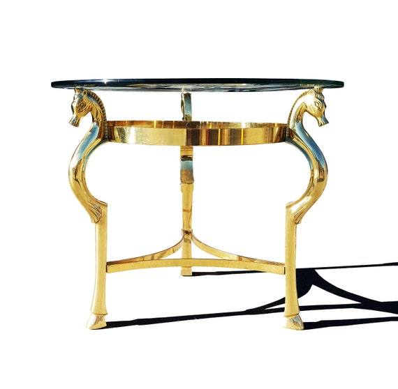 Surprising Hollywood Regency Brass Horse Side Table In The Manner Of Maison Jansen Pabps2019 Chair Design Images Pabps2019Com