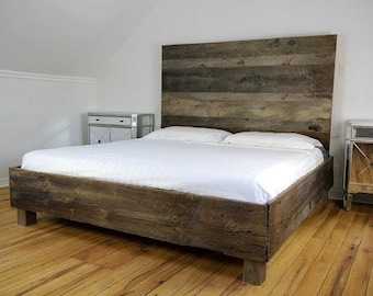 Reclaimed Wood Bed, Storage Bed, Modern Bed, Rustic Bed, Bedroom Furniture,  Farmhouse Bedroom