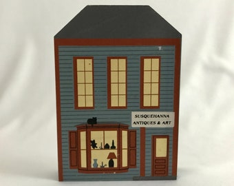Cat's Meow Susquehanna Antiques & Art Series XIII MD village 1995 shelf sitter collectible collect wooden home decor free shipping (7171)