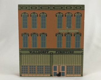 Cat's Meow Walldorff Furniture Series VIII Hastings MI village 1990 shelf sitter collectible collect wooden home decor free shipping (7172)
