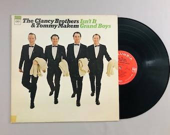 Clancy Brothers & Tommy Makem, Isn't It Grand Boys, 1966 vintage folk LP record album music vinyl classic audio CS9277 free shipping (7009)M