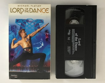 Michael Flatley, Lord of the Dance, 1997 vintage VHS vcr tape vintage movie classic home video action adventure free shipping (7141)M