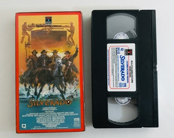 Silverado, 1985 Kevin Kline, Scott Glenn western vintage VHS tape vintage movie classic home video action adventure free shipping (7142)M