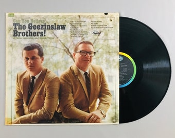 Geezinslaw Brothers, Can You Believe...1966 vintage humor funny LP record album music vinyl classic audio T2570 free shipping (7007)M