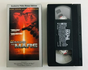 Mission to Mars, 2000, Gary Sinise, Tim Robbins documentary 'Vision of Mars' VHS tape vintage movie classic home video free shipping (7159)M