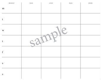 A4/A3 Meal Planner, Weekly Meal Planner, Week Ahead Planner, Weekly Calendar