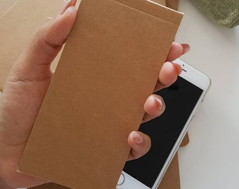 Small Grid Kraft Flip Notebook, Tear off Note Pad