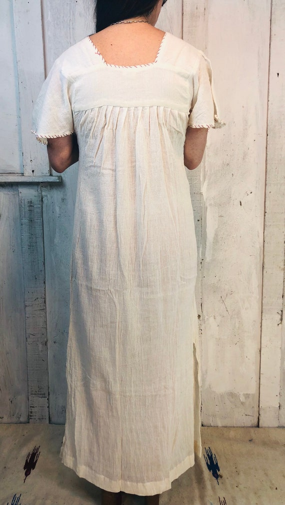Vintage Indian Cotton Dress// Indian Gauze Cotton… - image 10
