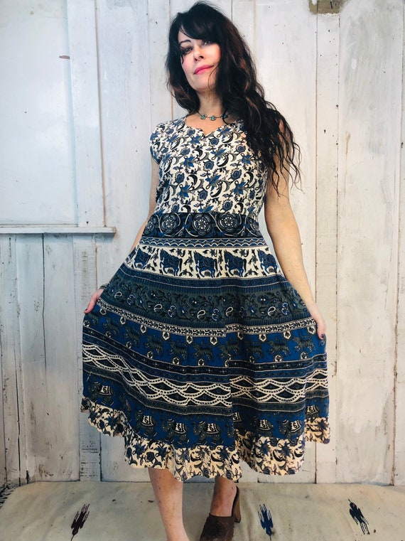 Vintage Indian Dress//Indian Cotton Dress// Bohemi