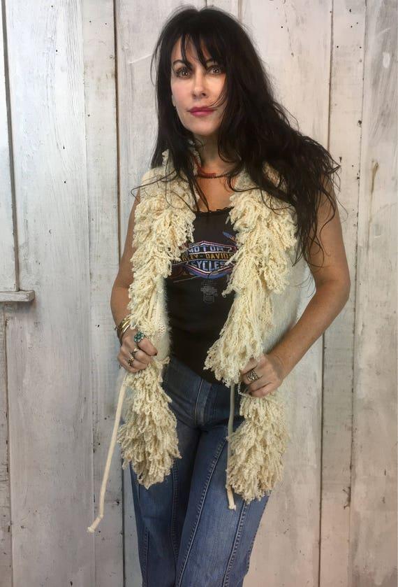 Vintage Handmade Sweater//Handmade Sweater Vest//V