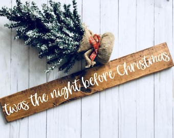 twas the night before christmas wood signs wood decor christmas decor christmas signs twas the night sign christmas merry xmas - Twas The Night Before Christmas Decorating Ideas