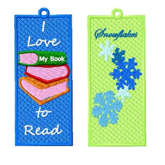 10 Fsl Winter Bookmark Machine Embroidery Design 4x4 Hoop Etsy