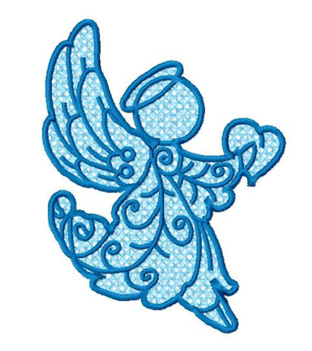 10 Fsl Angels Machine Embroidery Design Pack 4x4 Hoop Pes Etsy