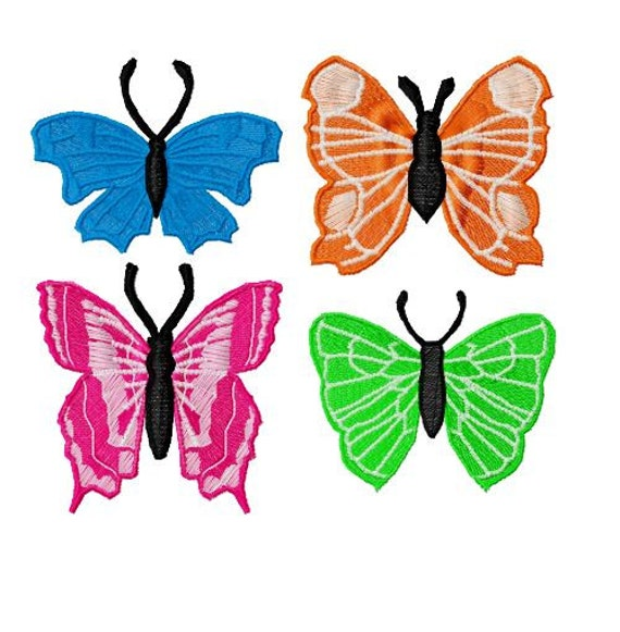 10 Fsl Butterfly Machine Embroidery Design 4x4 Hoop Pes Etsy