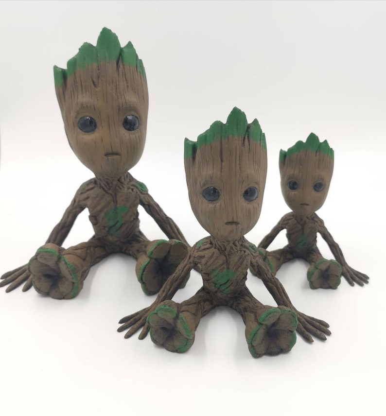 40% off 3D printed and hand painted Baby Groot. image 1