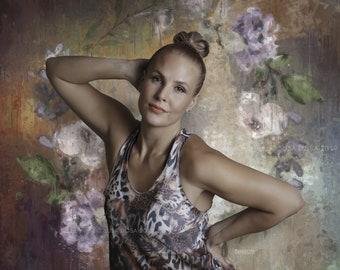 Oil Painting-like Art Backdrop, Artistic digital photo prop, floral prop, Artistic portrait backdrop digital, foto background, photo overlay