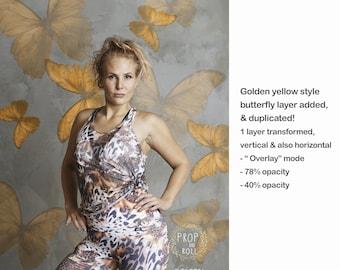 SUPER EASY Edit Butterfly Backdrops, PNG backdrop digital butterfly prop, fine art backdrop, Artistic backdrop digital, portrait backdrop,