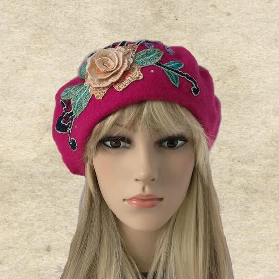 Mujer de felted boina boina francesa invierno sombreros de  b702d580709