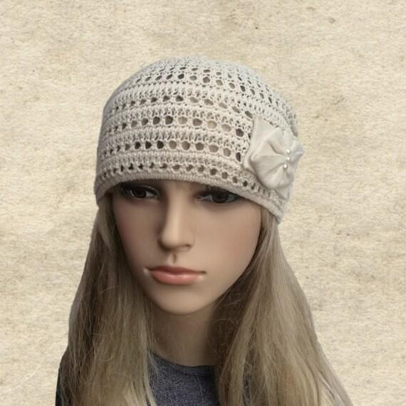 Summer women s hat Summer beanie hat Knitted cotton  c70418b1620