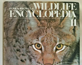 Vintage 1974 Hardcover Book, Funk & Wagnalls Wildlife Encyclopedia, Volume 11 LAM-MAN, Hardcover, Book, Text, Educational, Animals, Nature