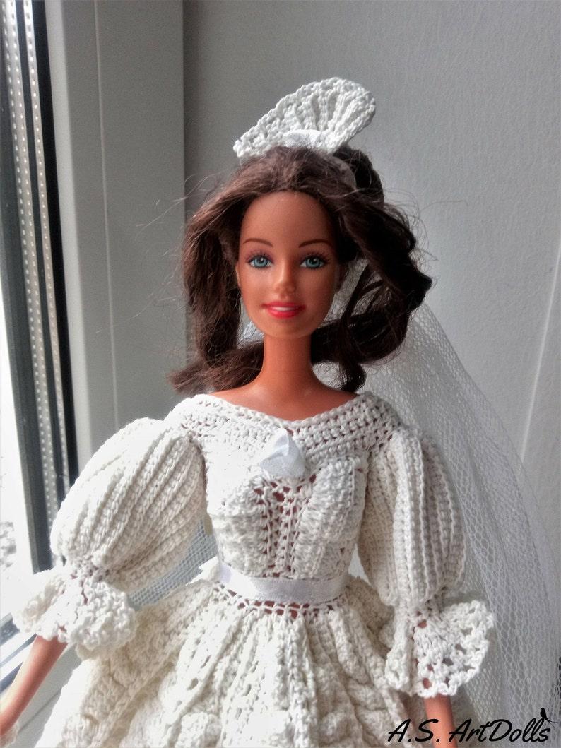 Uncinetto Da Bambola Sposa Abito Da Bambola Vittoriana Etsy