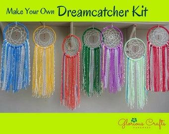 Dreamcatcher Kit, Boho, How To Craft Kit, Bohemian, Wall Hanging, Hobby, Dream Catcher Kit, Craft Kit, Fibre Art, Birthday, Party Activity