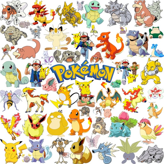 205 pokemon clipart pokemon go clipart pokemon stickers rh etsy com pokemon clipart free pokemon clipart black and white