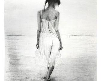Nude Woman Walking   Etsy