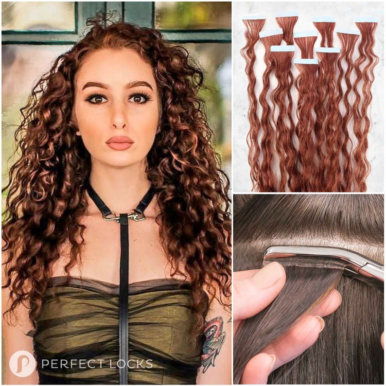 Curly Tape In Extensions 100 Remy High Quality Human Hair