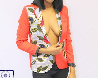 Customized African print blazer (small) - limited edition