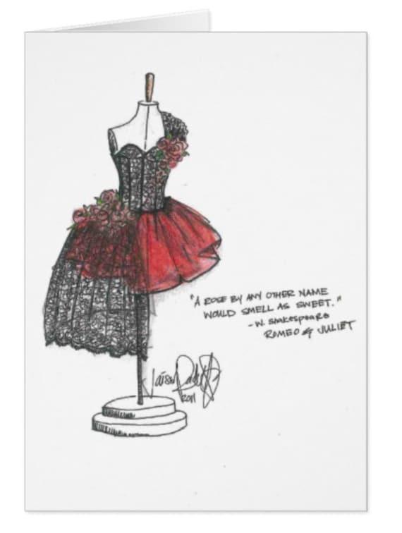 Viva Italia / Black Lace Gown Single Card