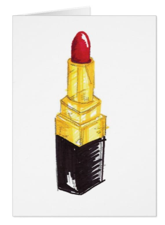 Red Rouge Glam Lipstick Card