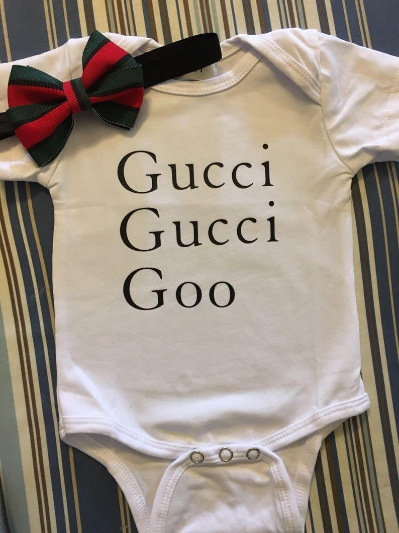 b35e0f69b43 Gucci gucci goo hoofdband & onesie | Etsy