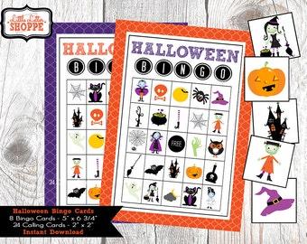 halloween bingo printable game instant download bingo cards halloween kids activities bingo