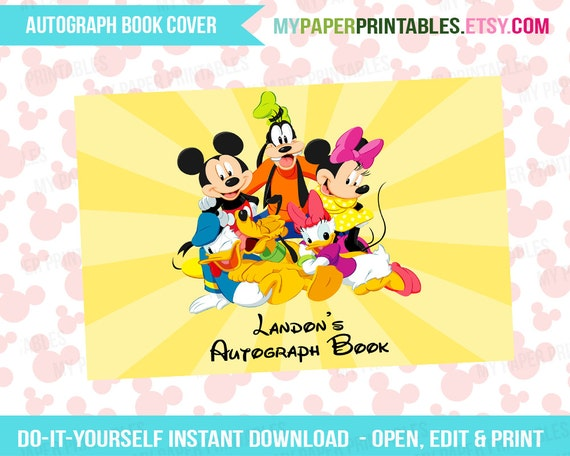 photo regarding Printable Disney Autograph Book known as Printable Autograph Reserve Address EDITABLE Do it yourself Customise Instantaneous Down load Disney International Disney Cruise Disney Printables Disney Signature E-book
