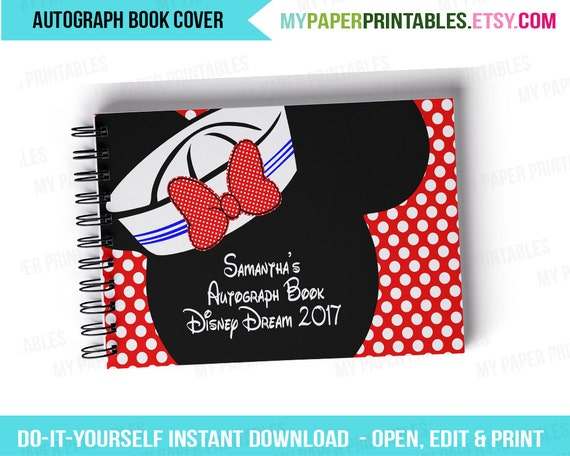printable autograph book cover editable diy personalize etsy