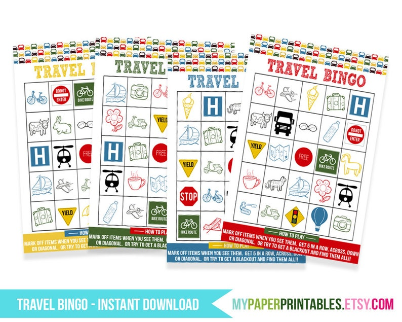 image relating to Travel Bingo Printable named Printable Drive Bingo Playing cards -Street Holiday Video game, Relatives Generate Game titles for Children, Fast Obtain, generate magazine, Printable Actions